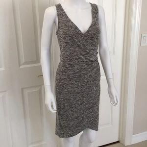 Leith Melange Wrap Dress Grey Cloudy Heather Small